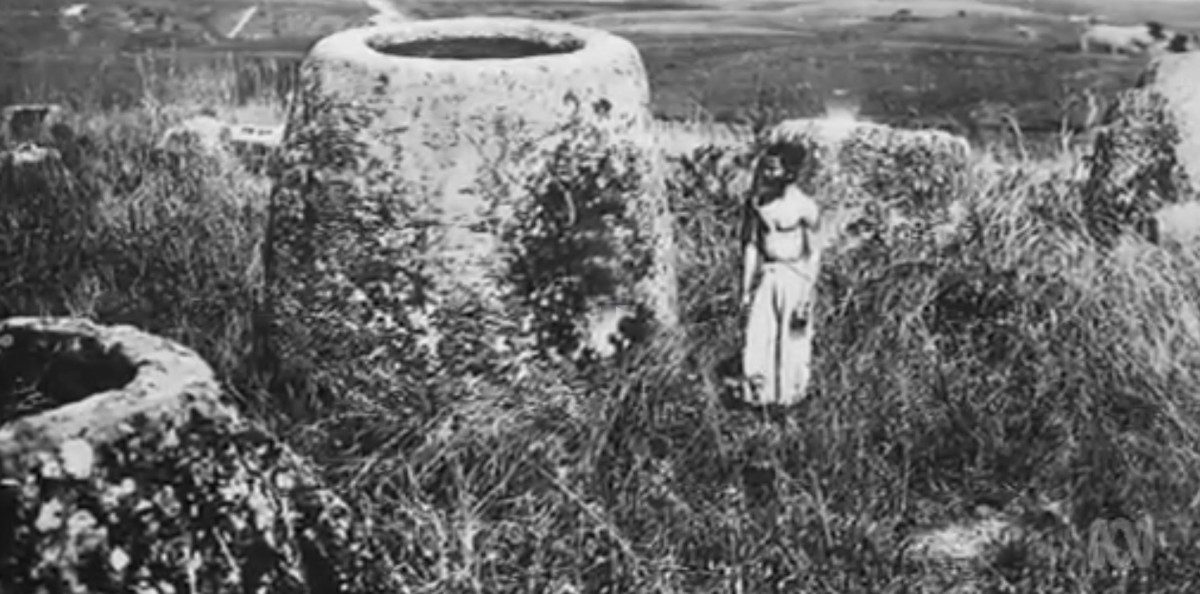 There's over 80 sites throughout central Laos. They were first investigated by Madeleine Colani back in the 1930s. One of the largest sites is site one, and that's where most of the tourists go, so it's called the Plain of Jars for that reason.