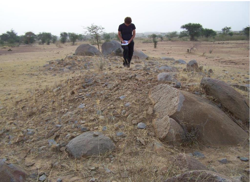 Burkina Faso: Study of mounds. Photo by K. Rak