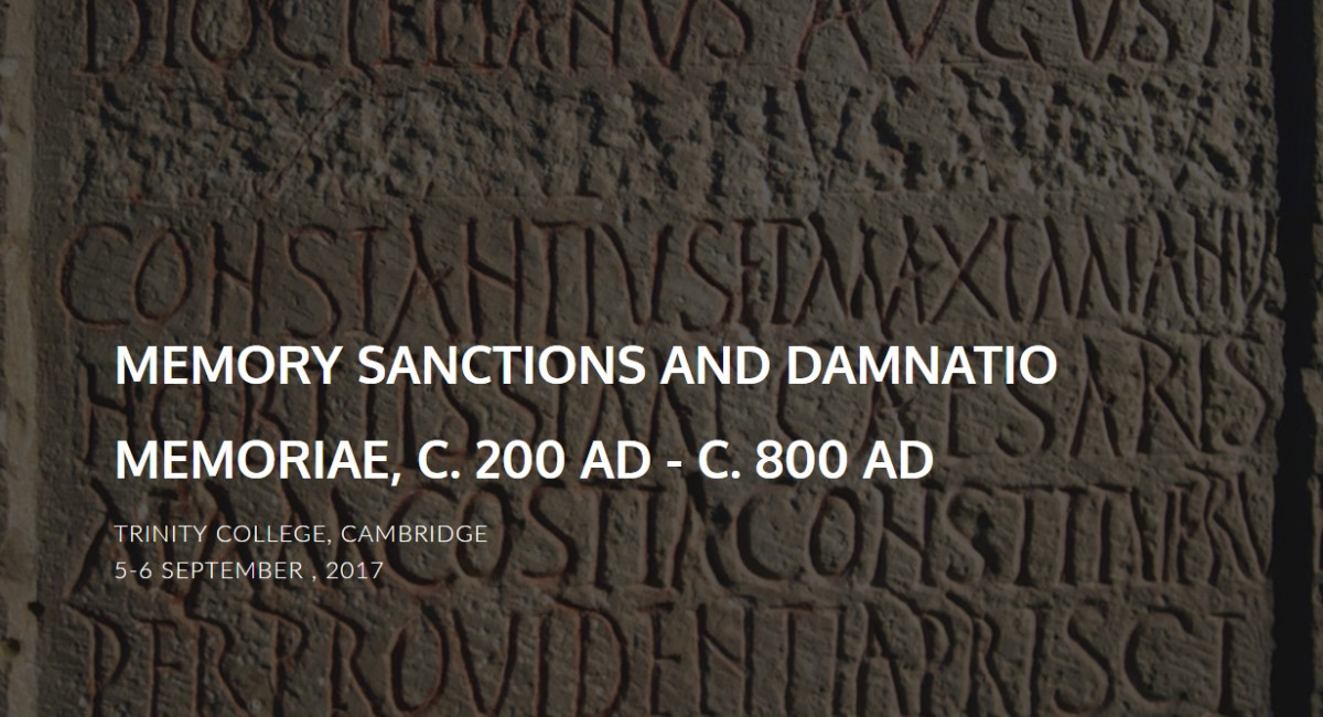 The conference will explore the changing concept of memory sanctions in late antiquity and the early middle ages.