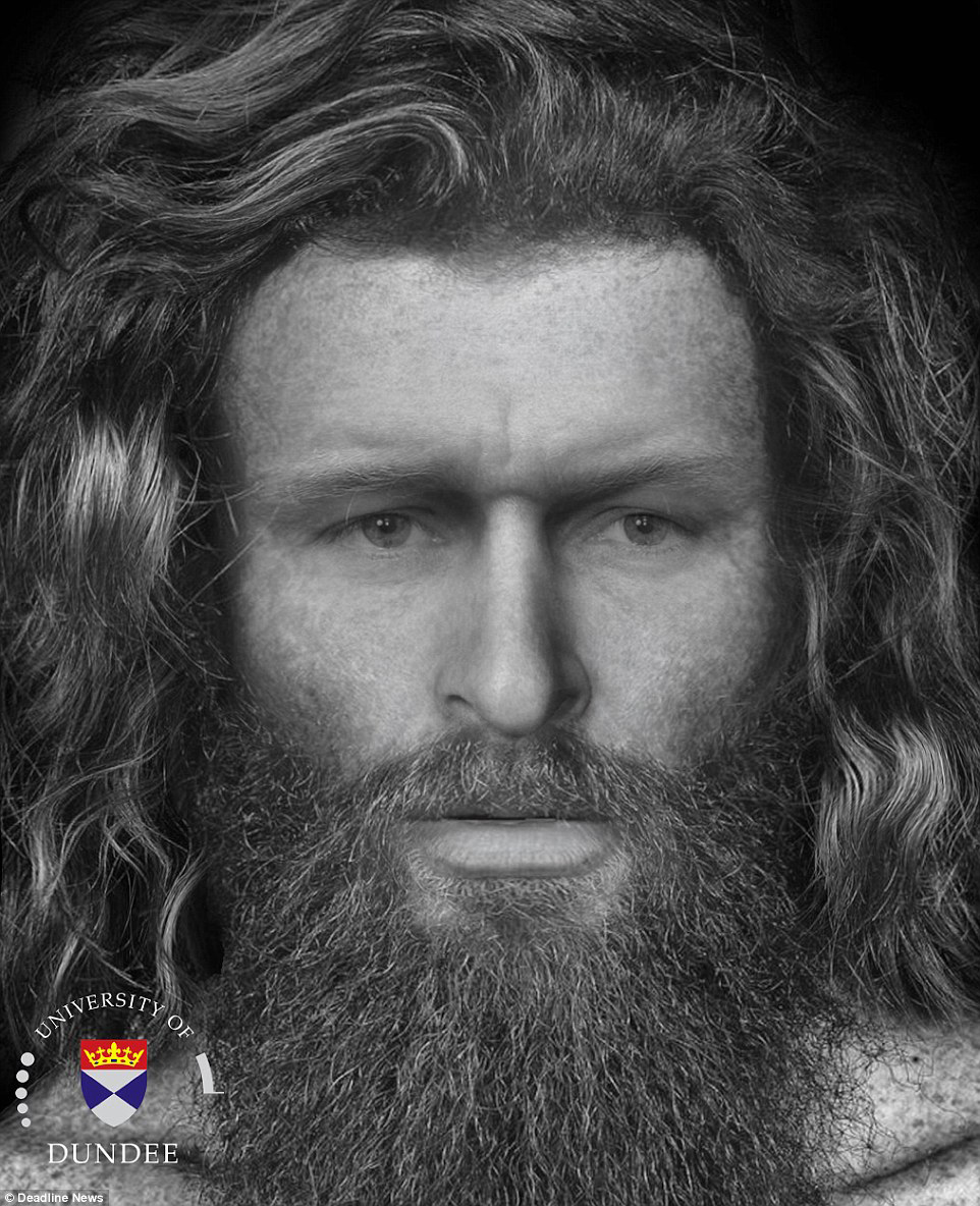 Reconstruction of the face of a Pictish man.