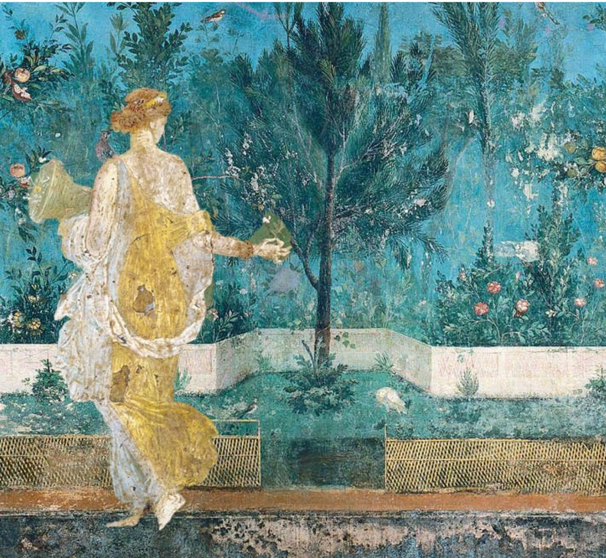 The most significant discovery is that the excavation of ancient Stabiae gives the first definitive archaeological proof of the existence of the type of garden shown in the famous garden fresco of the Villa of Livia at Prima Porta, a sort of fictive thicket of miniaturized plants carefully shaped in layers.