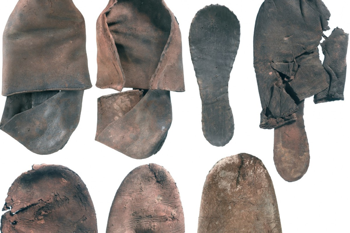 A collection of leather shoes discovered by MOLA.