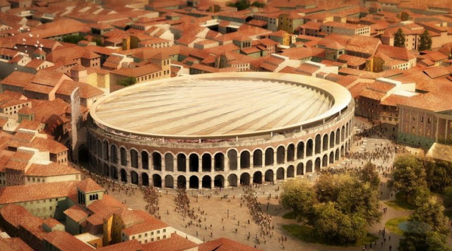 A New Roof For The Historical Arena Di Verona