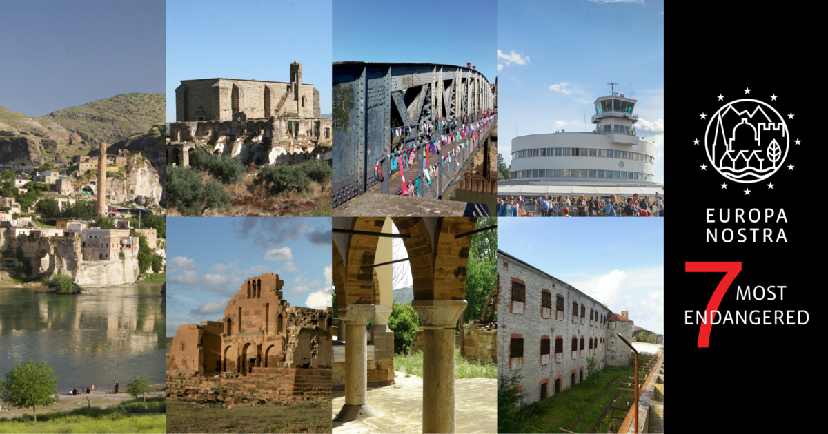 The 7 Most Endangered heritage sites in Europe 2016. Photo: Europa Nostra