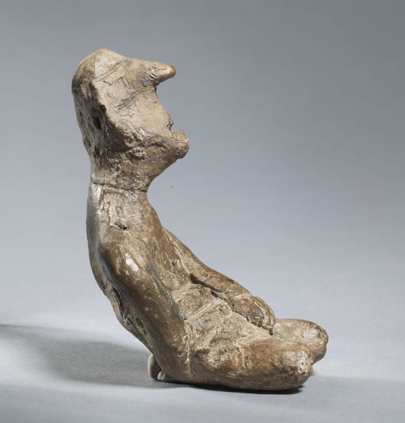 Figurine of inclined figure. Beginning of Late Neolithic I (5300-5100 BC). Lakeside settlement Dispilio, Kastoria.