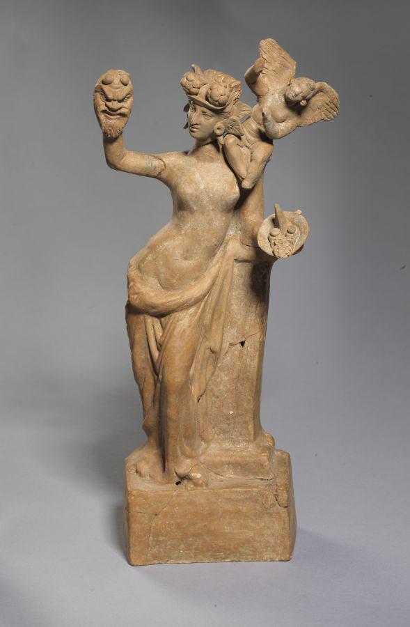 Aphrodite and Eros. Mid-2nd c. BC. Veria.