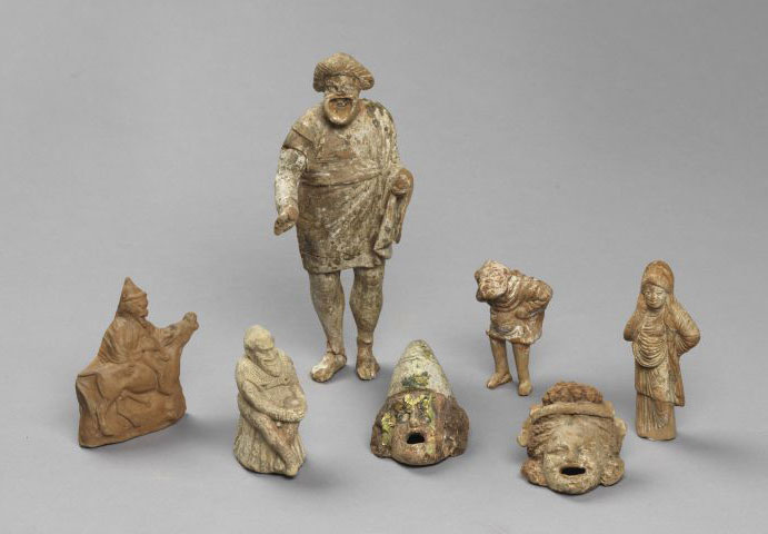 Theatrical figurines from Thessaloniki and Chalkidiki.