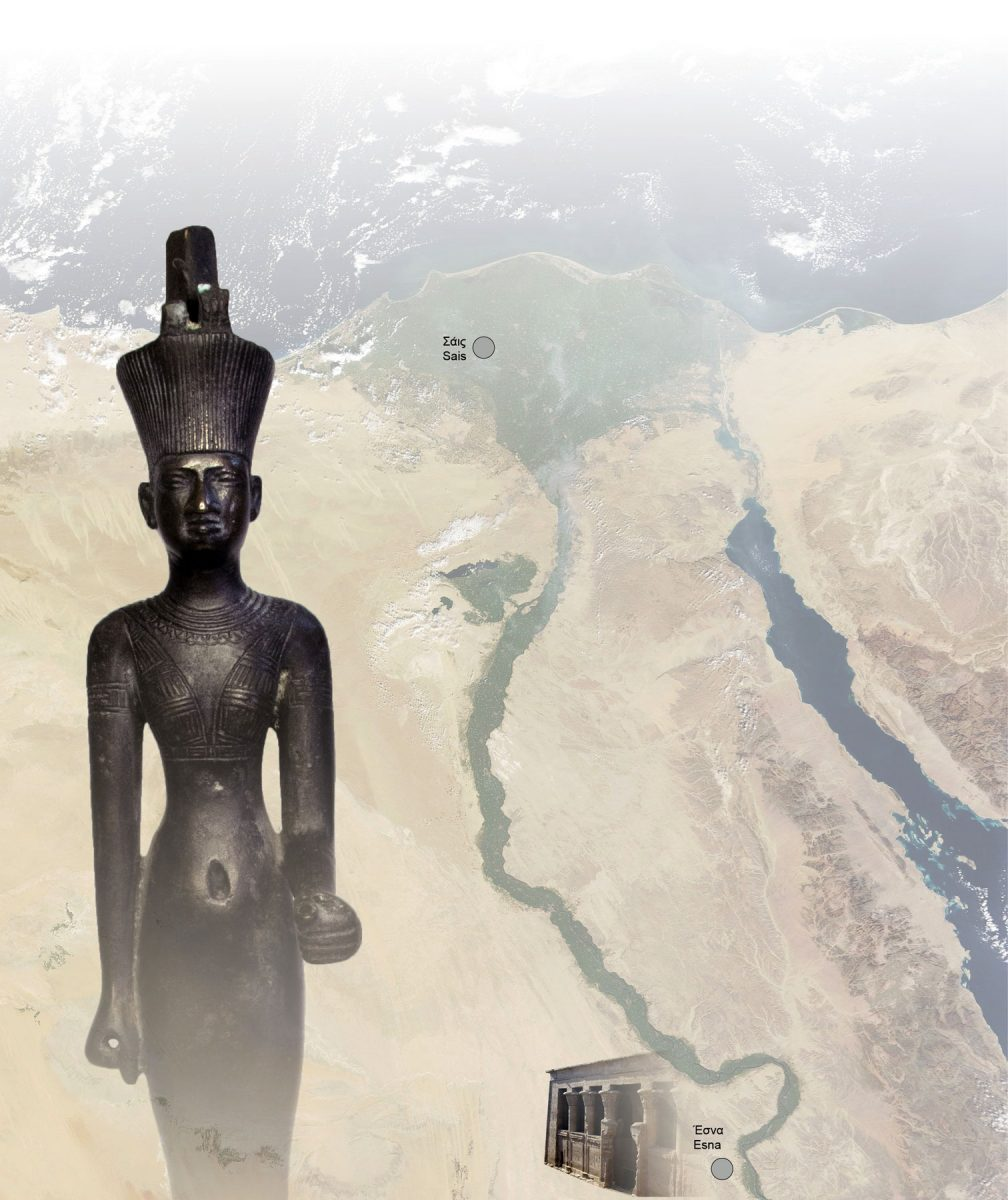 """The """"Great Neith, creator of the world"""". Photo credit: National Archaeological Museum."""