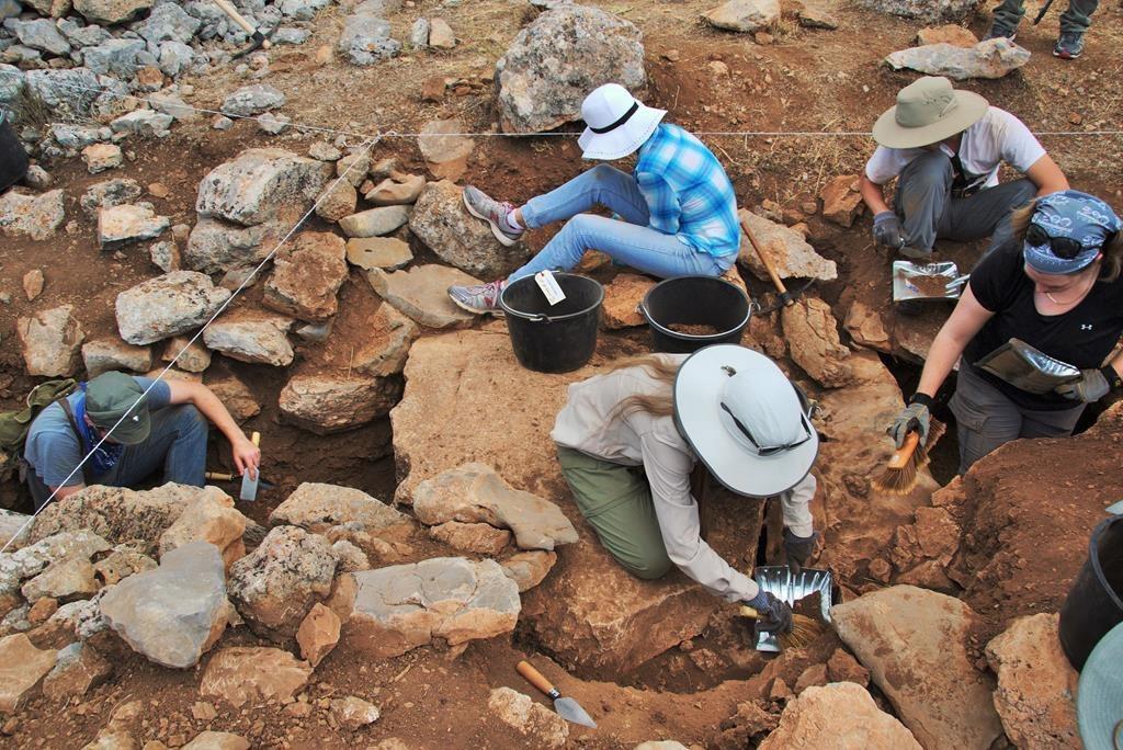 View of Kastrouli excavations.