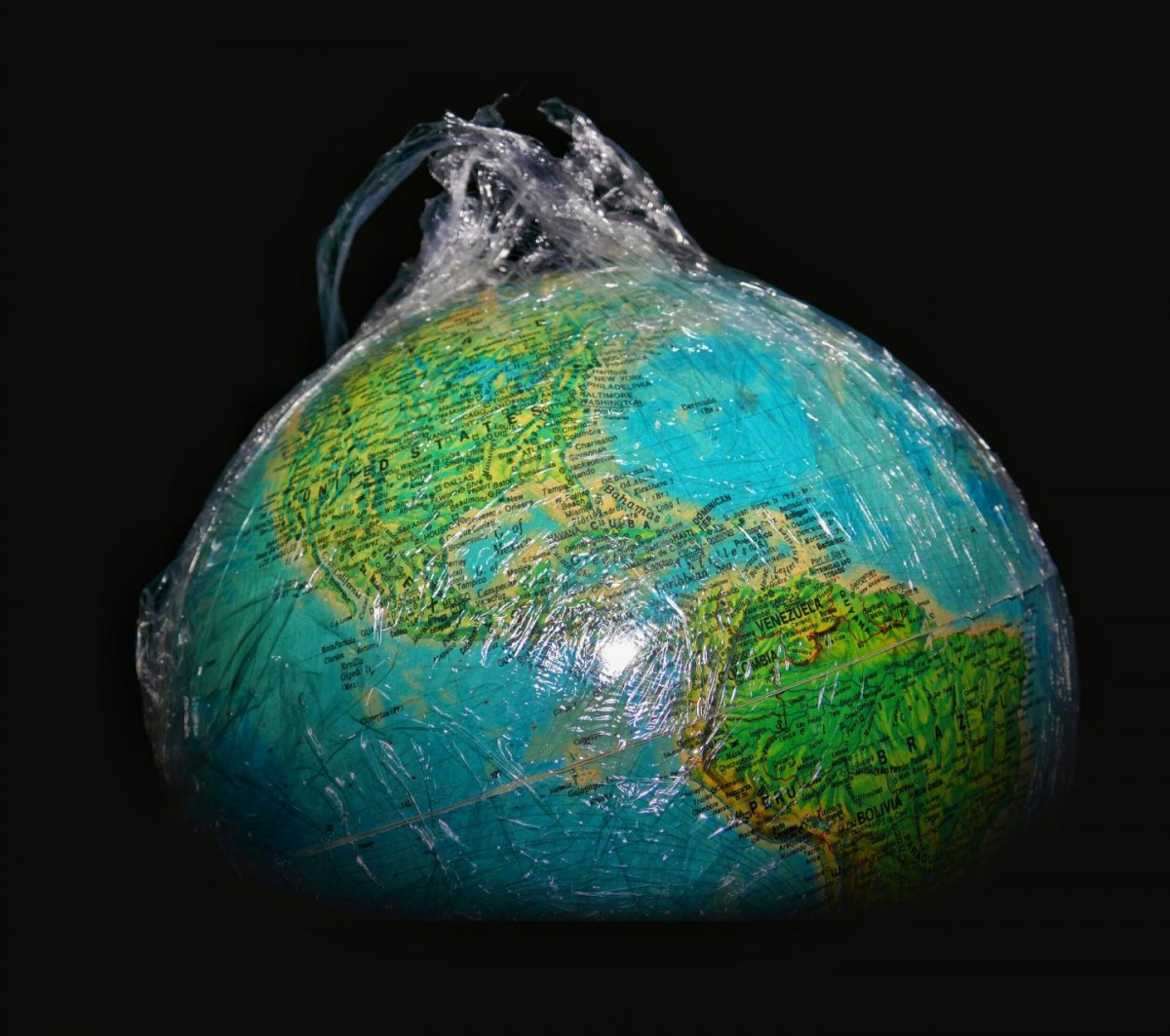 Plastic planet is shown. Credit: University of Leicester / Jonathan Sisson