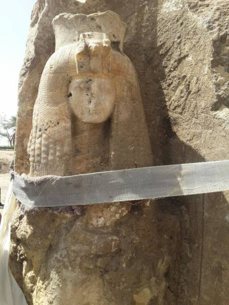 The Queen Tiye statue is in a good state and still retains a portion of its original colors. The statue will still be subjected to further restoration.