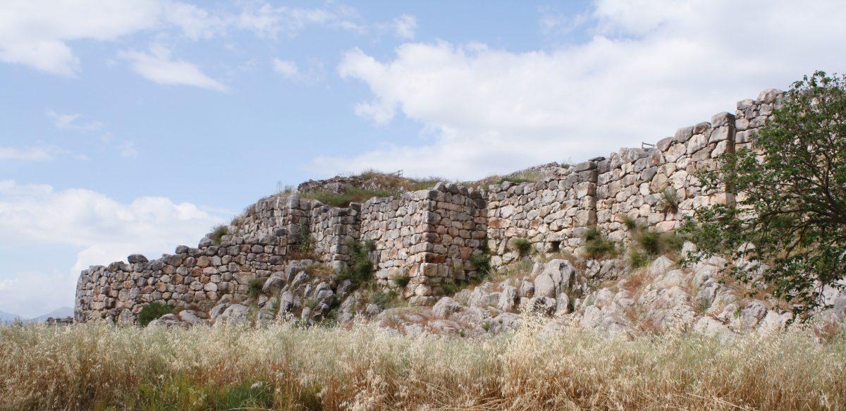 The Acropolis of Mycenaean Tiryns.