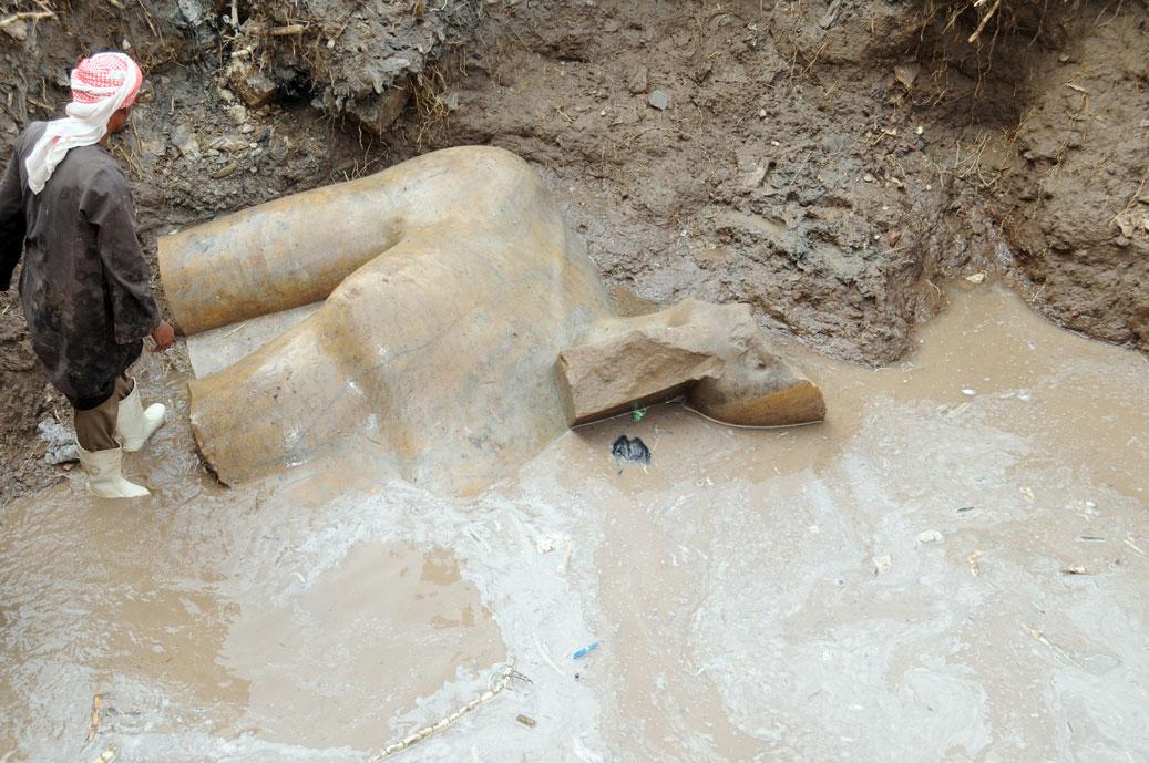 Torso of a colossal statue from Matariya.