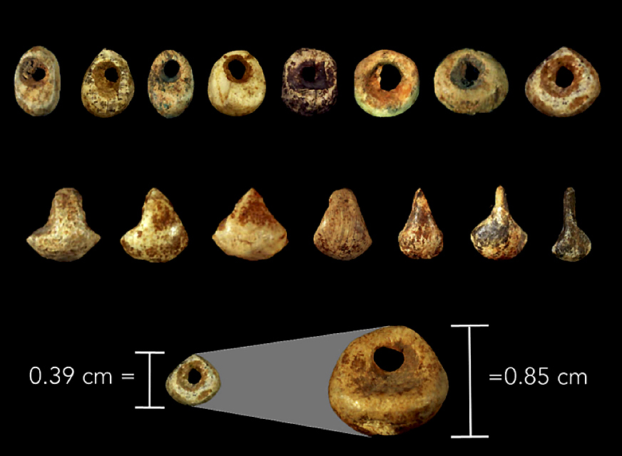 French Upper Palaeolithic beads.
