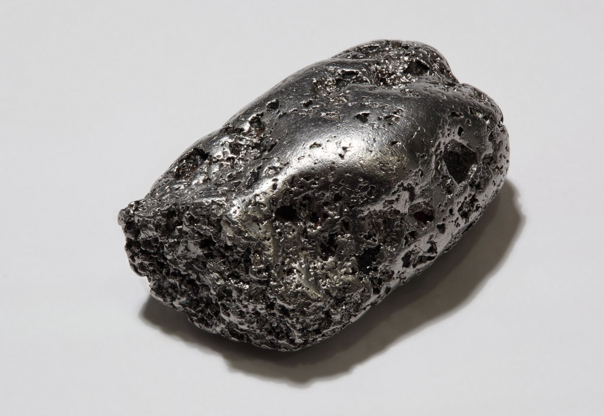 Platinum –an element associated with cosmic objects like asteroids or comets.