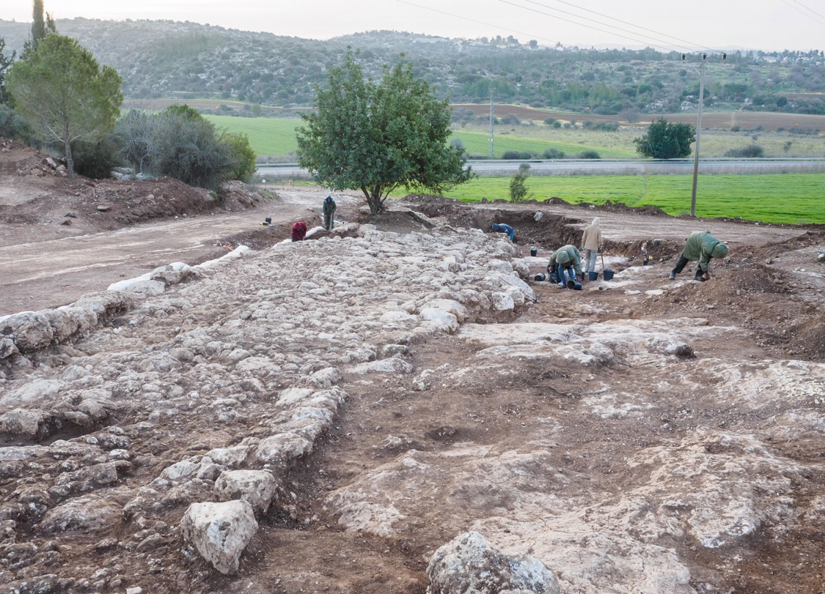 The impressive road dating to the Roman period was found in an extraordinary state of preservation.