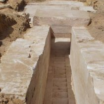 Remains of a hitherto unknown pyramid have been unearthed in Dahshour