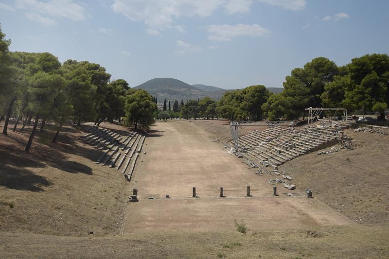 Stadium at the Sanctuary of Asklepios at Epidaurus.