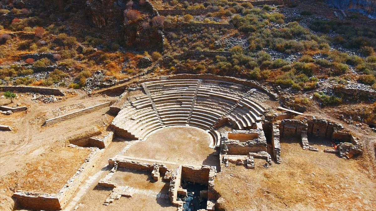 The theatre of ancient Karthaia. Photo credit: Europa Nostra