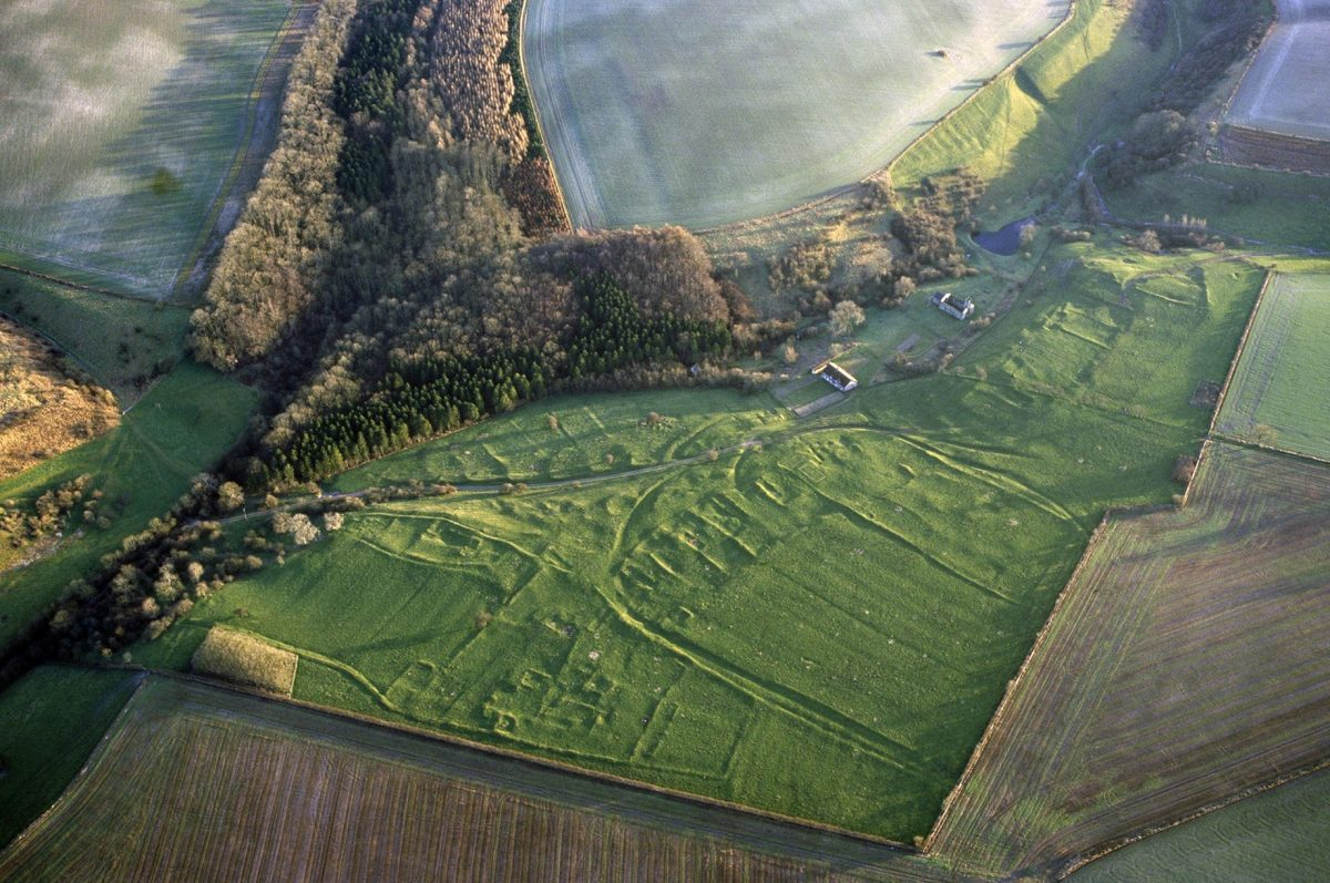 Wharram Percy Medieval village. Credit: Historic England