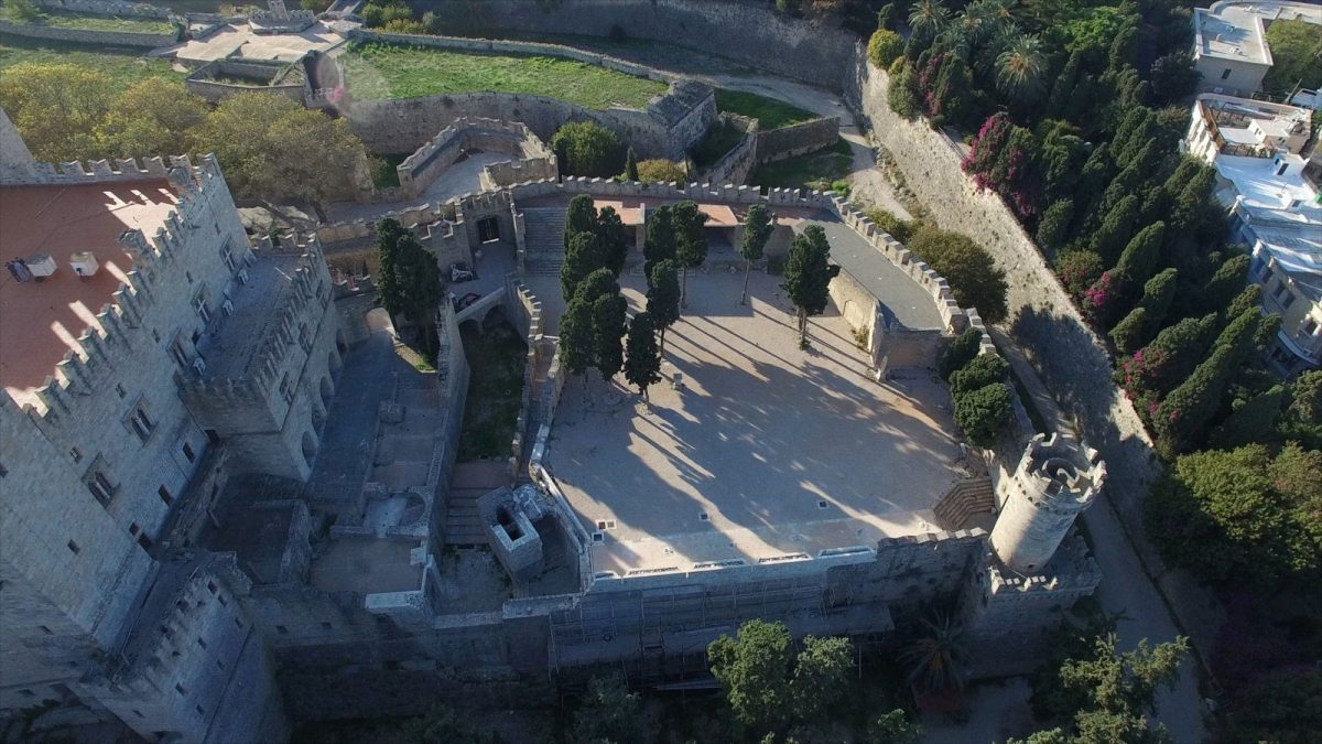 View of the bastion of the Grans Master's Palace in the Medieval city of Rhodes. Photo credit: Europa Nostra