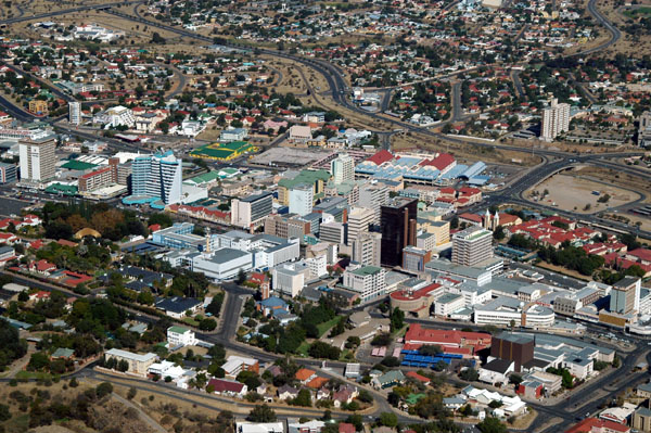 Aerial view of Windhoek, Namibia.