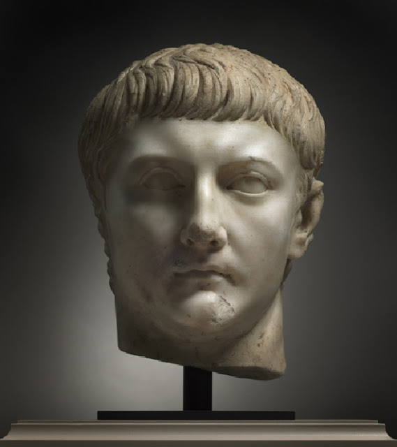 Head of Drusus Minor (13 BC-AD 23), probably after AD 23 and likely before AD 37. Roman, 1st cent.  Marble; overall: h. 35 cm (13 3/4 in). Credit: The Cleveland Museum of Art.