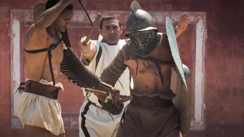 Gladiatorial games at Carnuntum – footage (c) LBI ArchPro, 7reasons
