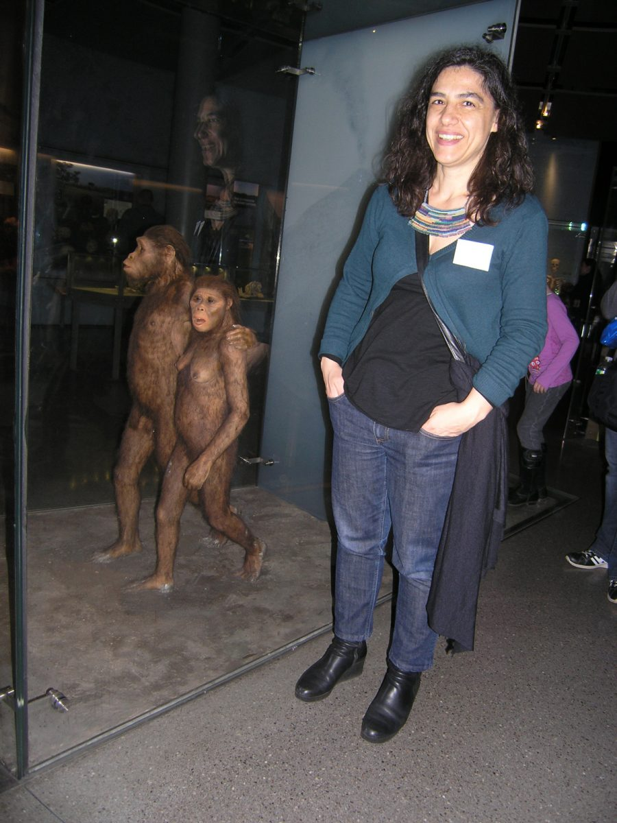 Fig. 17. At the American Natural History Museum in New York, next to the diorama of Australopithecus afarensis.