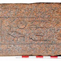 4000-year-old red granite lintel discovered at Egypt's Herakleopolis Magna