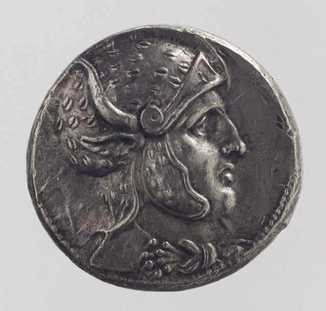 Tetradrachm of Seleucus I, 300–280 b.c.; Seleucid Iran, excavated at Pasargadae.