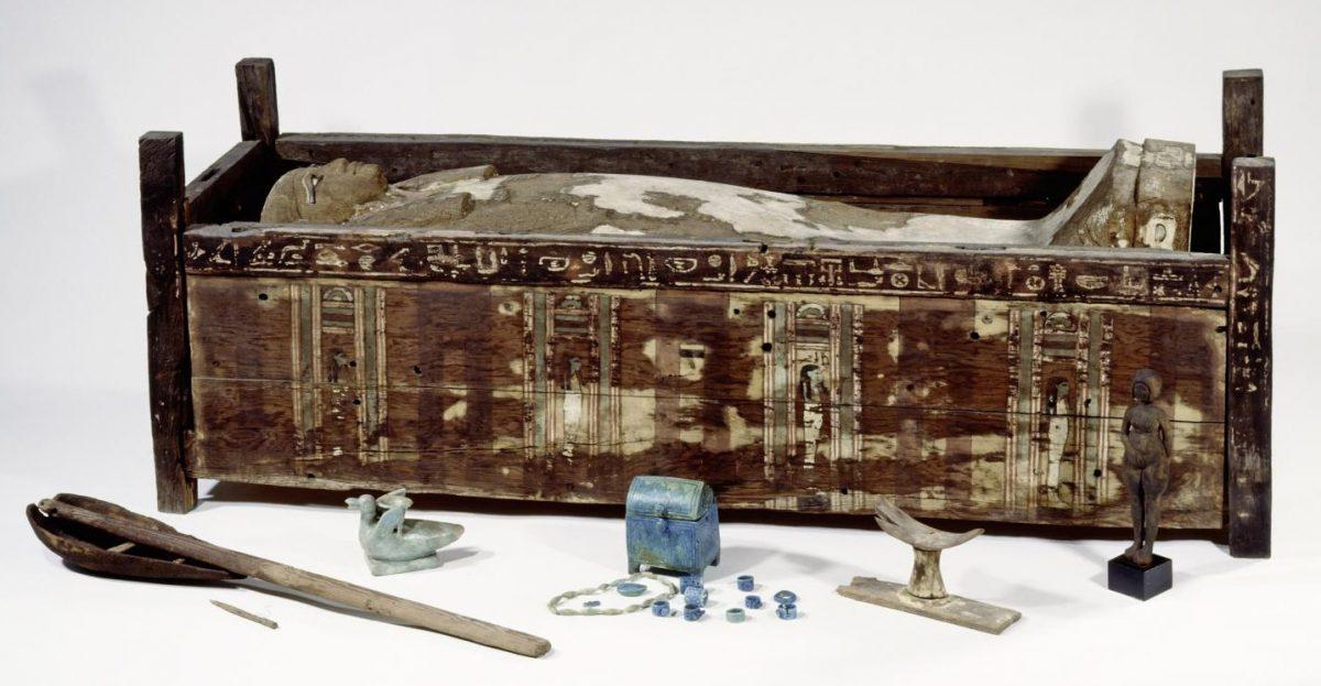 Sarcophagus of Tadja, Abusir El-Meleq. Credit: BPK/Aegyptisches Museum und Papyrussammlung, SMB/Sandra Steiss