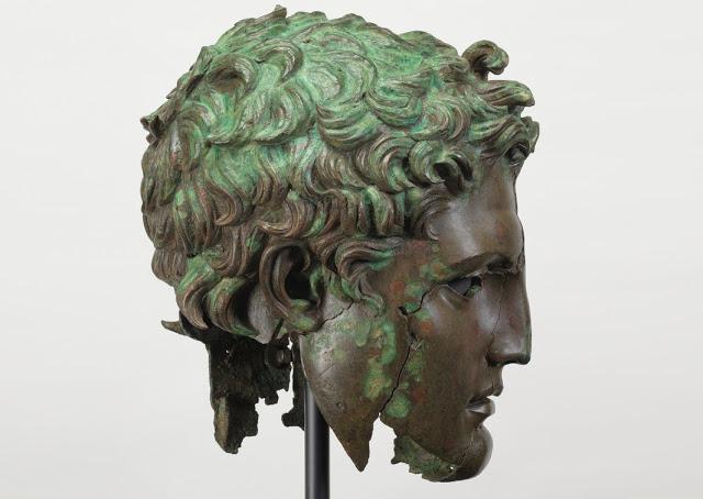 The monumental bronze head of Demetrius I Poliorcetes. Credit: Museo del Prado.