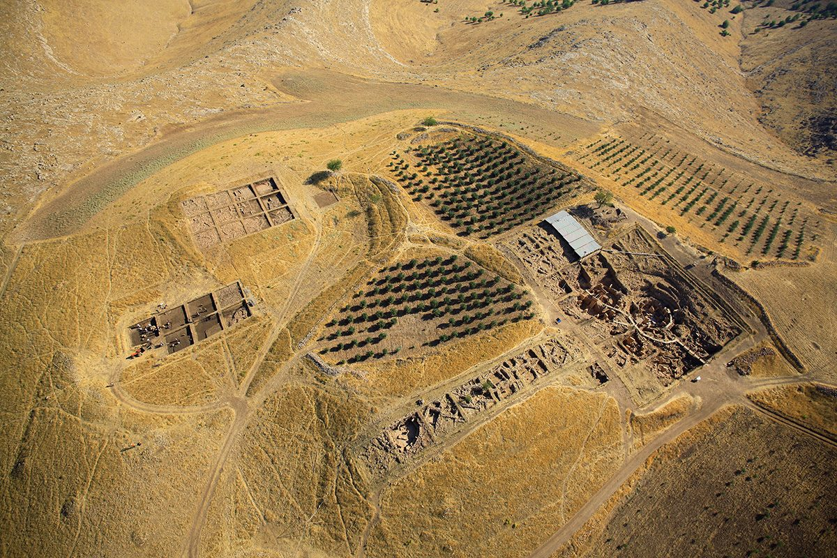 Fig. 6: Aerial view of Göbekli Tepe. (Image: DAI)