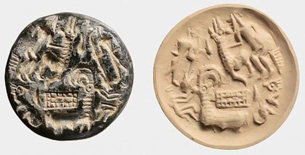 An example of a Dilmun Stamp seal, Middle Bronze Age (Public Domain).