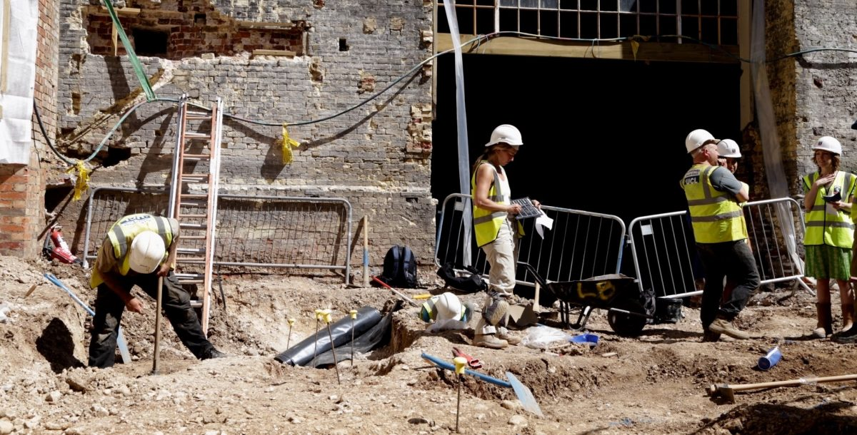Brighton's Royal Pavilion Estate: Up to nine graves have been uncovered during the excavations.