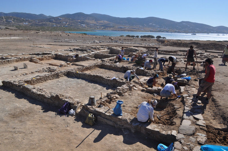 View of the excavation at Despotiko. Photo credit: Ministry of Culture and Sports