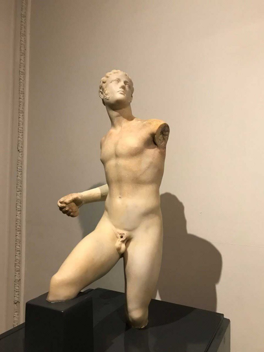 Marble statue found in the Shallalat Gardens in Alexandria in earlier excavations (photo: ANA/MNA).