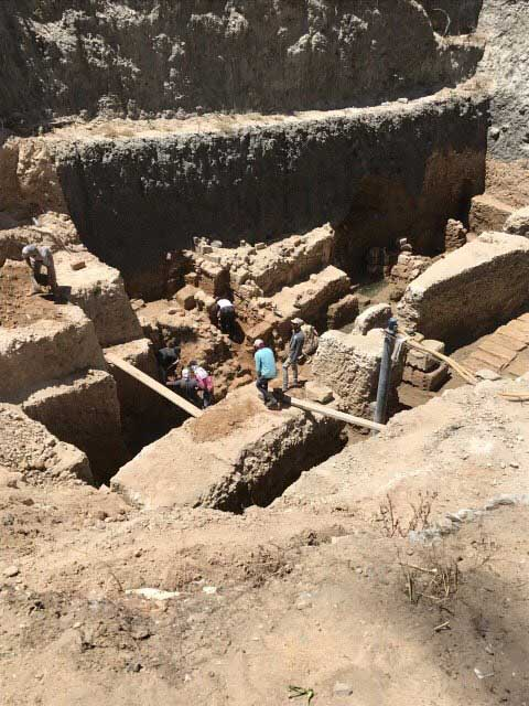View of the excavation in the Shallalat Gardens in Alexandria, Egypt (photo: ANA/MNA).