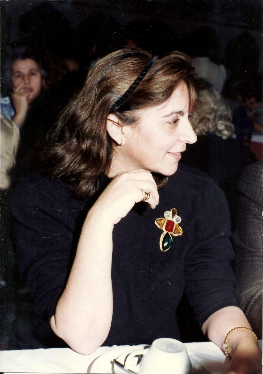 Fig. 19. Efi Sapouna-Sakellarakis at an event in honour of her father Miltiades Sapounas, 1989.