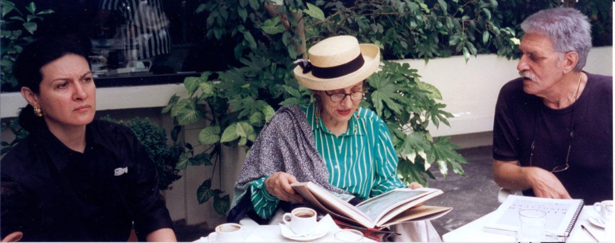 Fig. 24. Paloma Picasso, Francoise Gilot and Yannis Sakellarakis at the exhibition 'Archanes', Goulandris Museum, 1997.