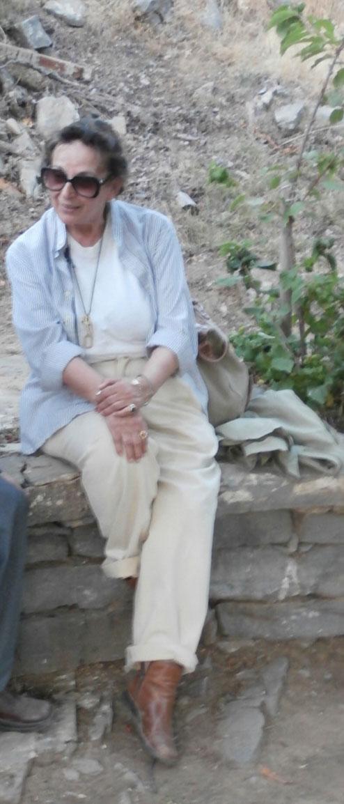 Fig. 31. Efi Sapouna-Sakellarakis at Zominthos, 2014.