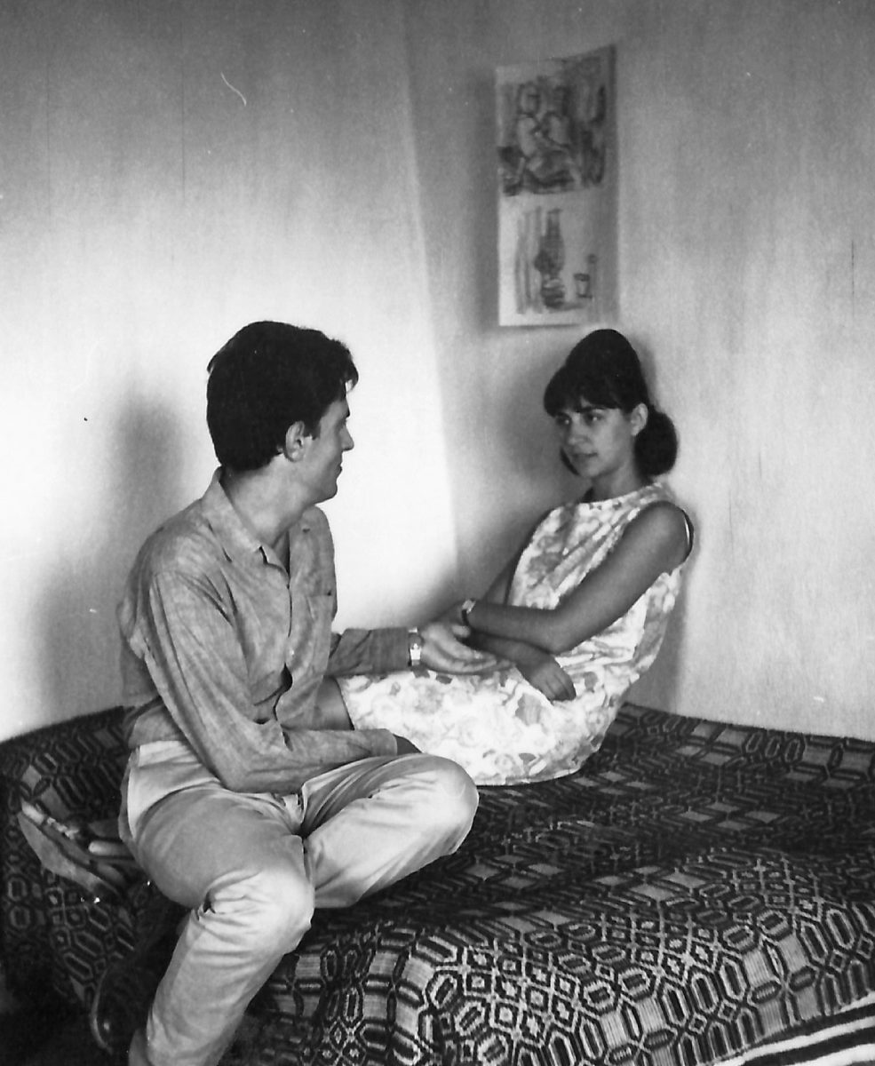 Fig. 5. The Sakellarakis couple at Zakros, 1963.