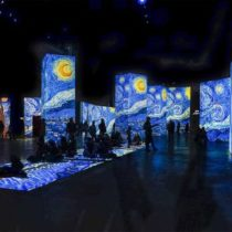 Multimedia exhibition of works by Vincent Van Gogh at the Athens Concert Hall, Megaron