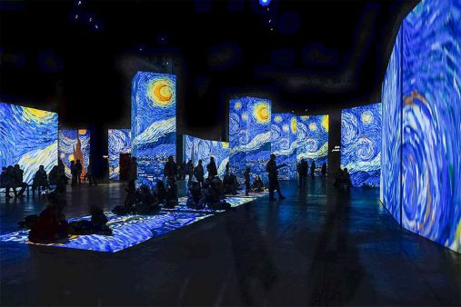 The flowing images and digital sound create a multiple spectacle with the masterpieces of Van Gogh and a digital journey to the places he lived and worked; Amsterdam , Paris, Arles and Saint-Rémy de Provence.