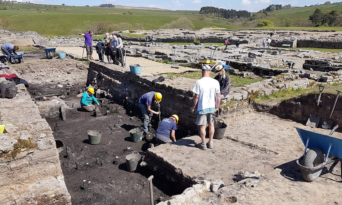Excavation trench where the tablets were found. Credit: The Vindolanda Trust