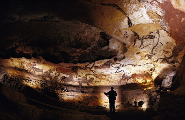 Paleolithic people selected caves that featured good acoustics and covered them with elaborate art in preparation for religious ceremonies that involved chanting and singing. Pictured is the Lascaux Cave. Credit: Sisse Brimberg/National Geographic