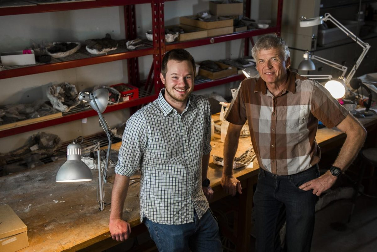 New research shows group of ancient reptiles typically associated with flight actually spent more time walking. Greg Funston and Philip Currie, the University of Alberta paleontologists behind the discovery. Credit: John Ulan for the University of Alberta