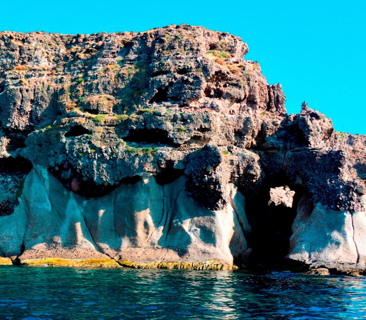 Arch, impressive geomorph on the west coast of Nisiopi.