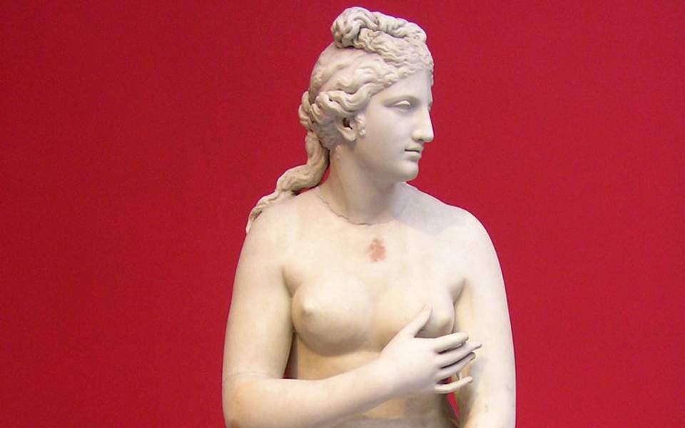 Marble statue of Aphrodite, 2nd century AD (NAM exhibit no 3524).